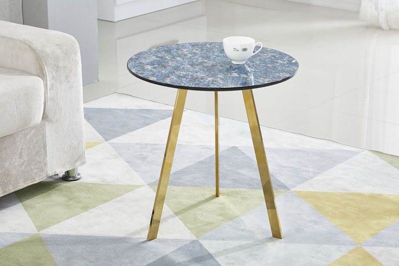 3D Marble Effect Pattern Modern Small Side Table