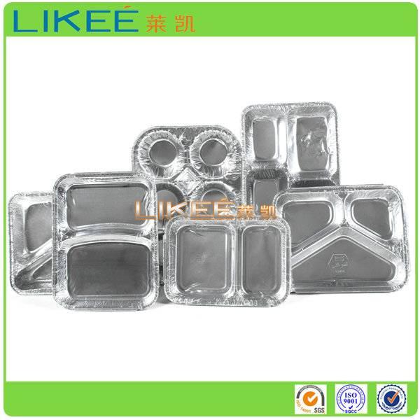 Multi Compartment Aluminum Foil Container