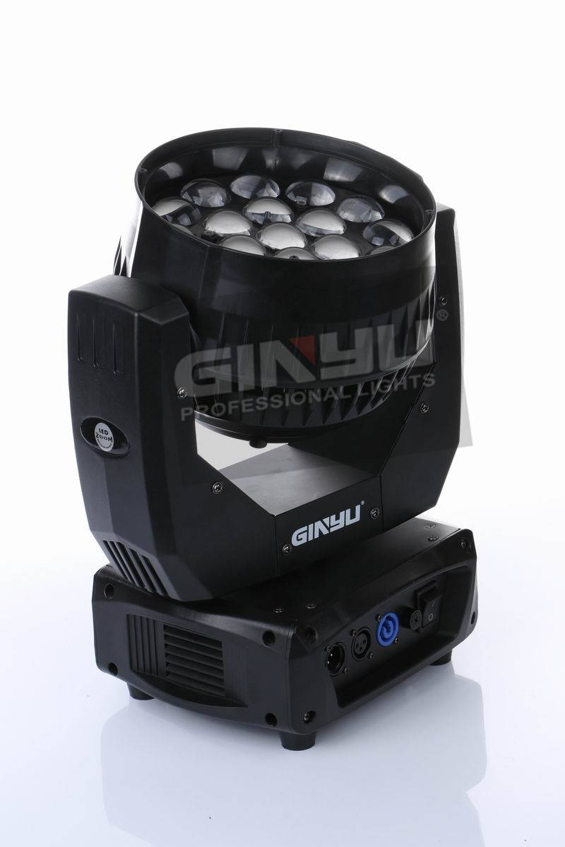 New product 19pcs 12w wash moving head with zoom