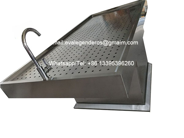 Morgue Height Lifting Dead Body Washing Table