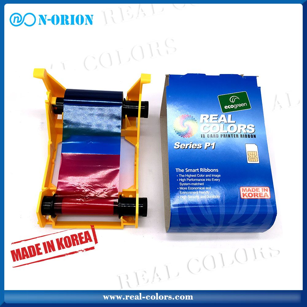 Real-colors Zebra 800017-240 YMCKO_200 Images printer ribbon for Zebra P100i P110i P120i