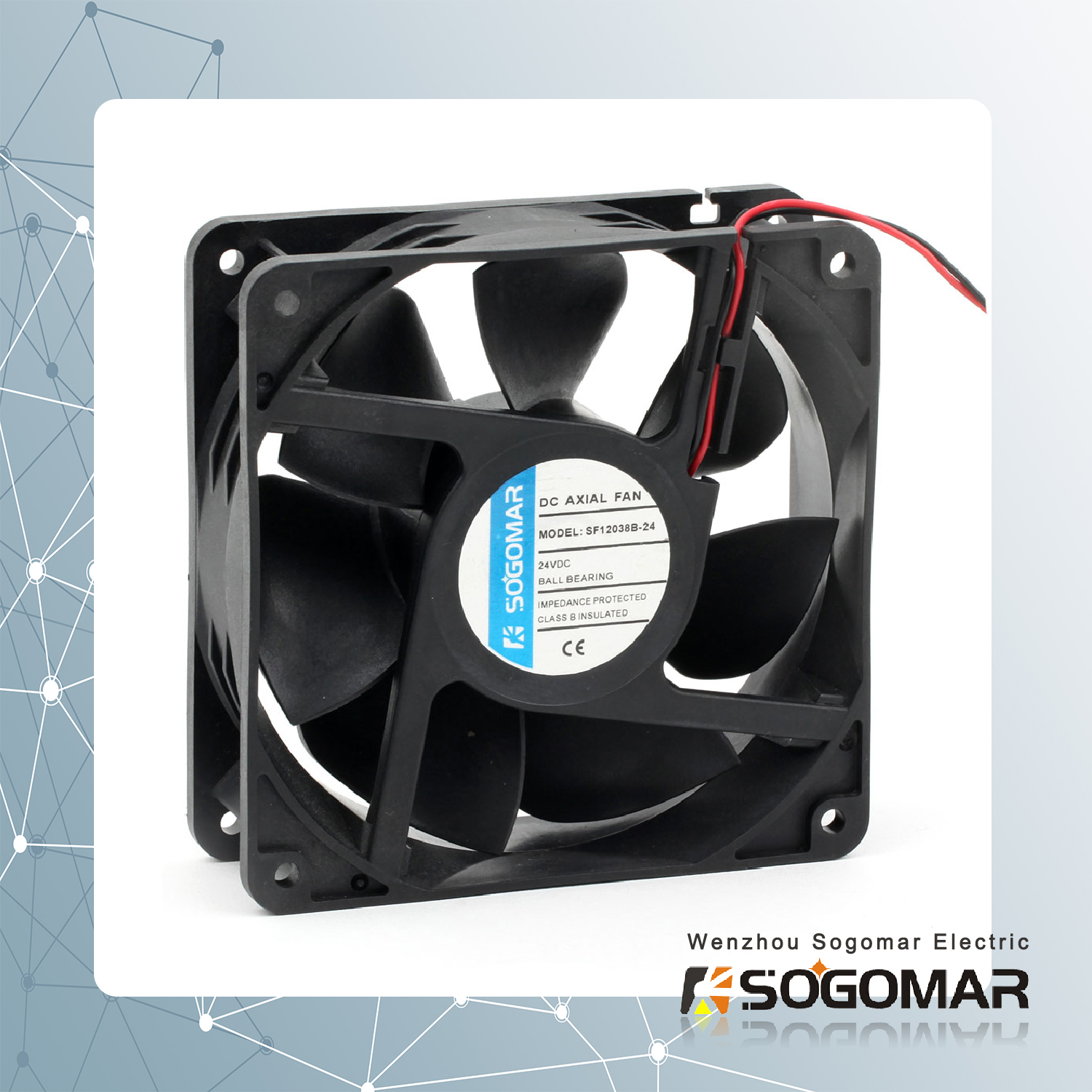 DC brushless fan 4 inch 120x120mm for cooling