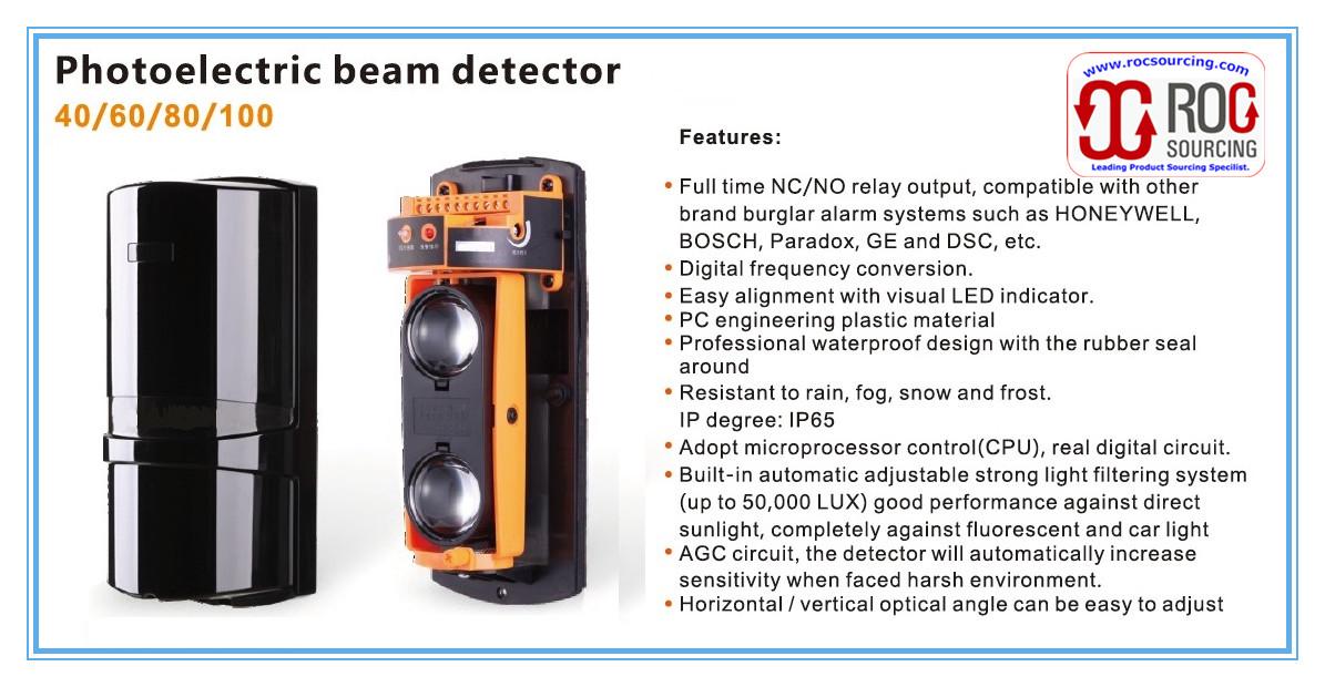 Outdoor Security Alarm Photoelectric beam Sensor Detector for Perimeter Pretection Anti-Intrusion