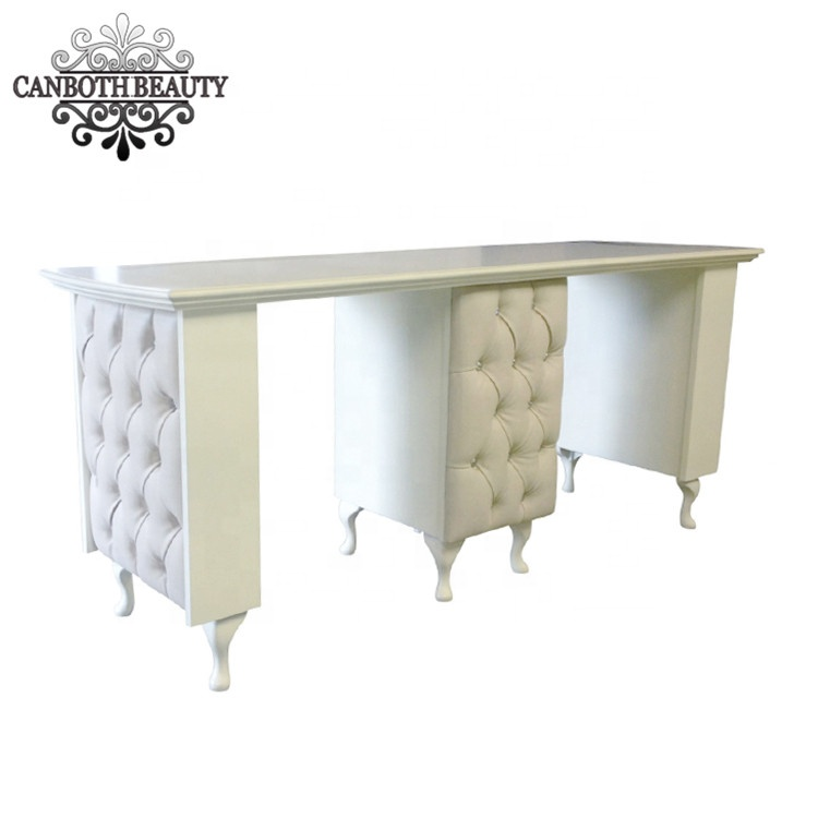 Customized top quality double size salon nail table manicure table