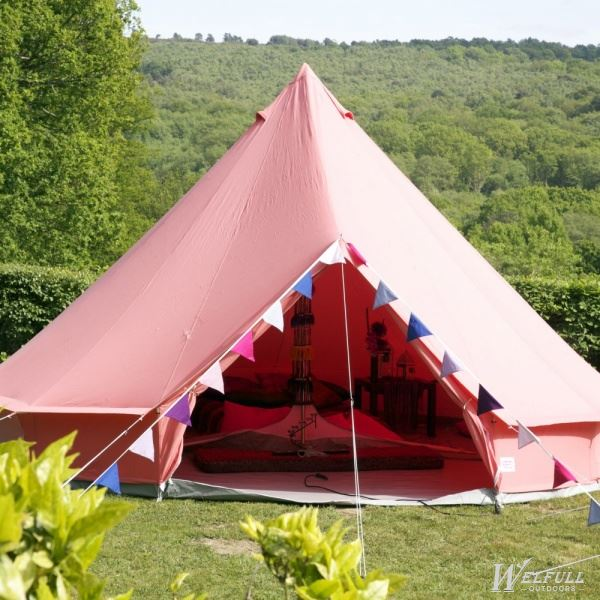 Waterproof Red Canvas Tent Family Party Use