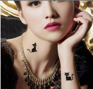 charming party women party temporary tattoo sticker