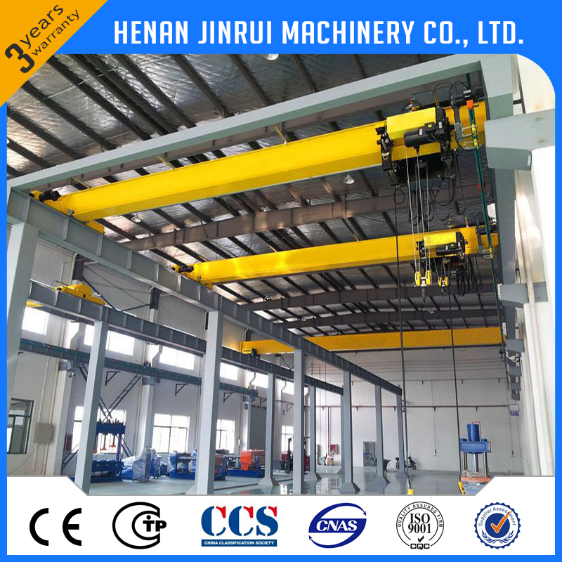 China Electric Indoor Single Girder Bridge Overhead Crane 5 Ton
