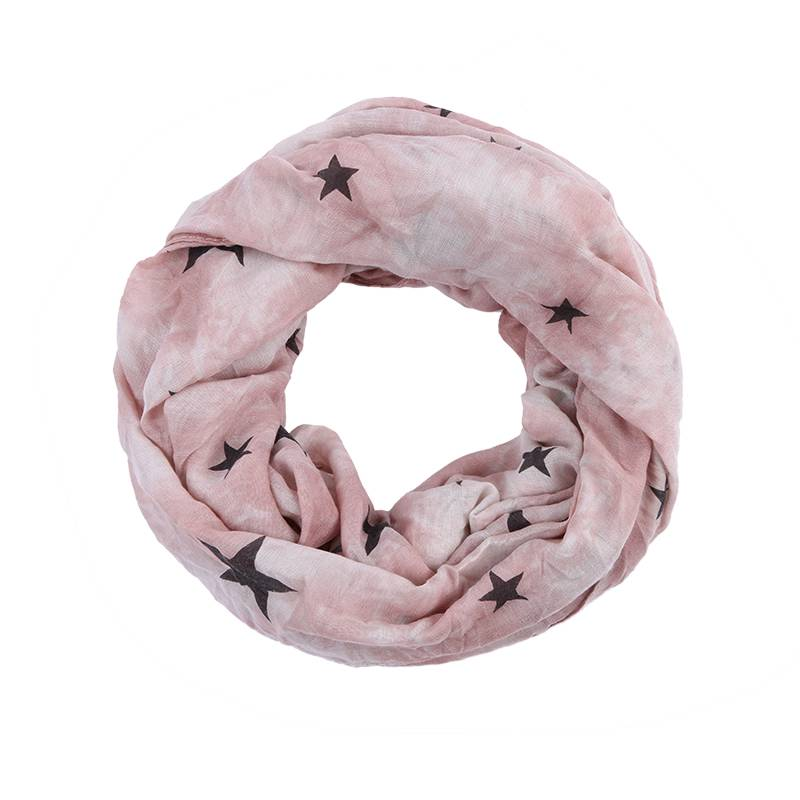 light weight stars print infinity  scarf fashion scarf