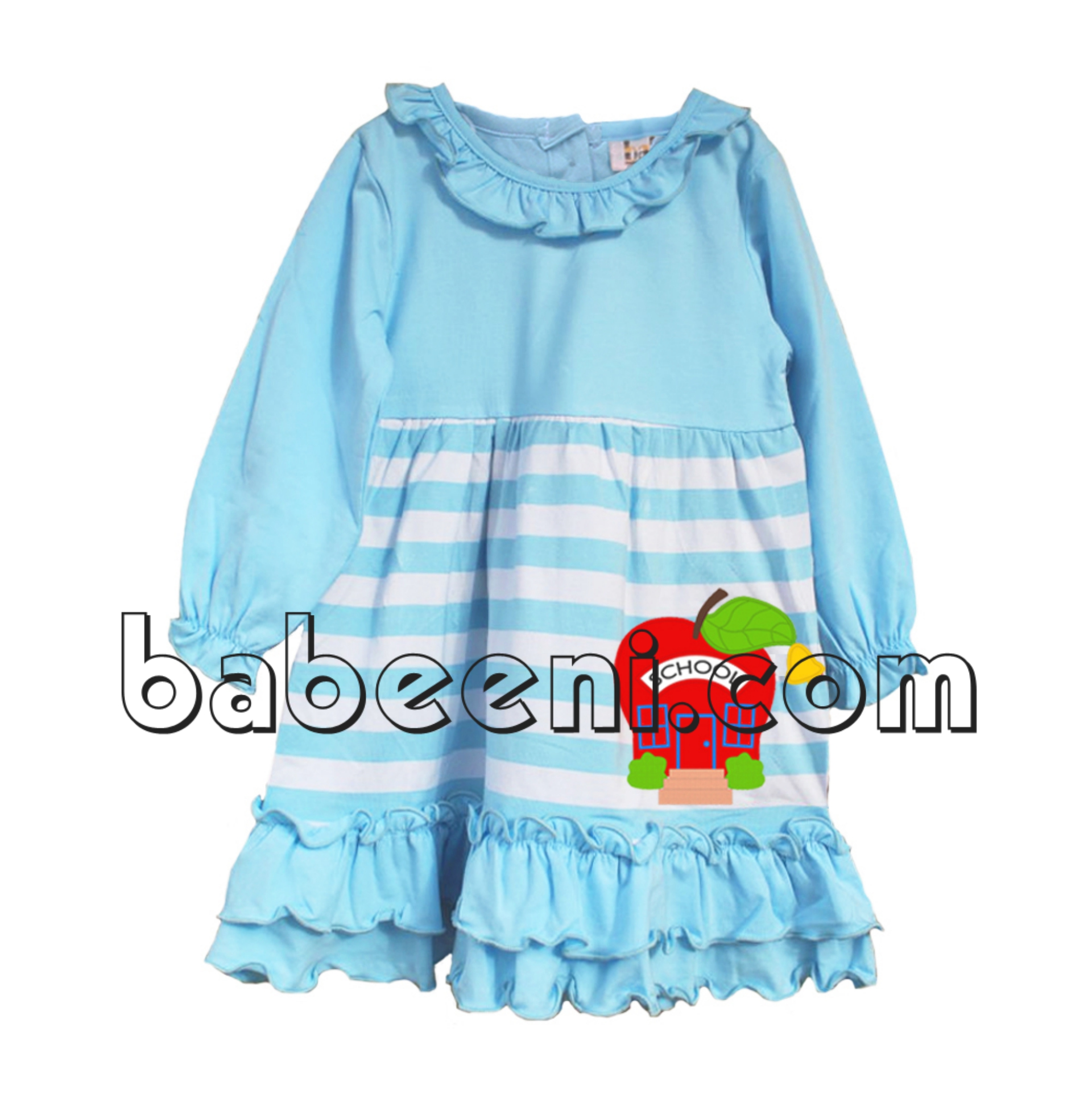 Lovely apple applique knit dress - KN 197