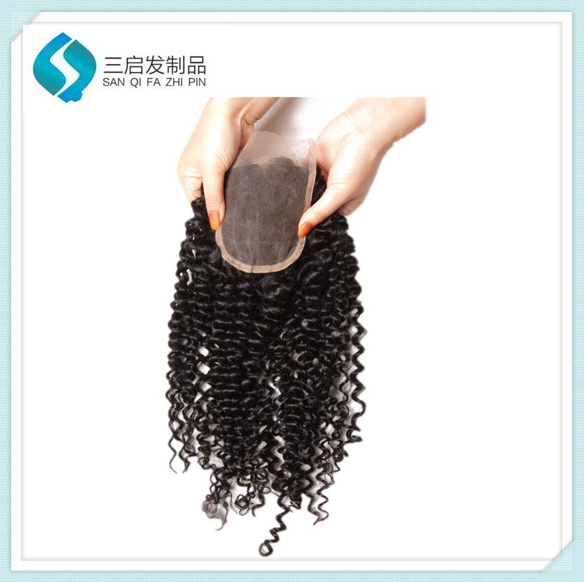 Manufacture human hair lace closure