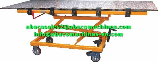 MARBLE GRANITE STONE SLAB PROCESSING WORKING TABLE - ABACO -