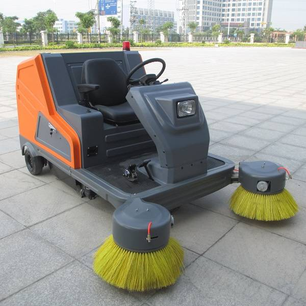 Marshell battery electric sweeping vehicle with roof