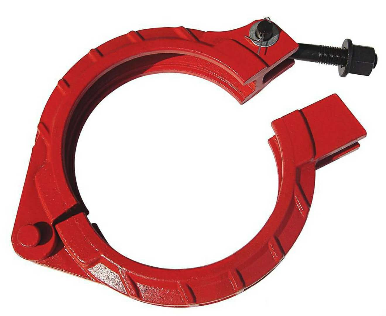 Economic and Reliable iron pipe fittings concrete pump clamp coupling with Long Service Life