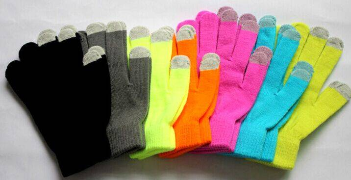 Winter outside warm touch gloves