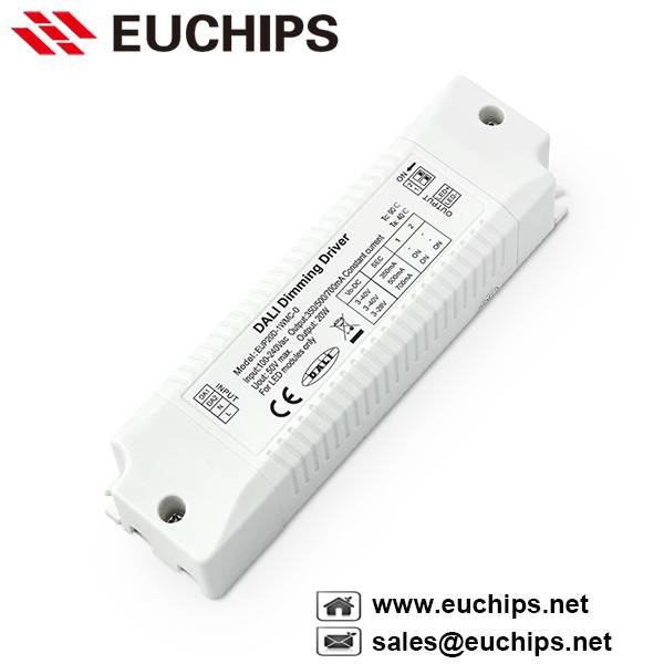 350/500/700mA 20W 1 channel dali constant current dimmable led driver EUP20D-1WMC-0