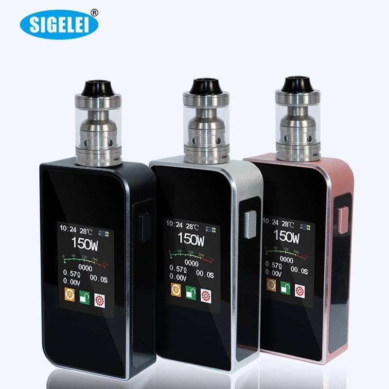 e-cigarette Sigelei T150 W box mod 100% genuine Sigelei T150 mod Sigelei T150W touch screen fasion y