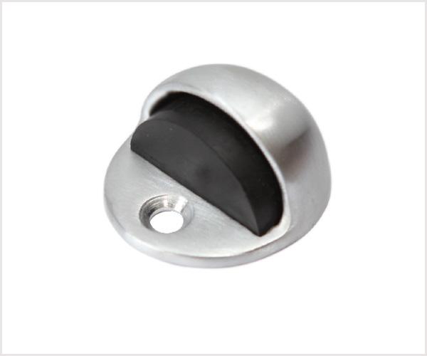 Brass floor mounted Dome door stop