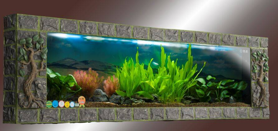 Ecological artificial stone wall tank