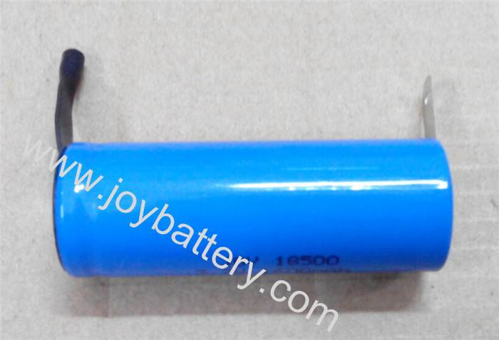 3.7V 18500 18650 battery with welded tabs