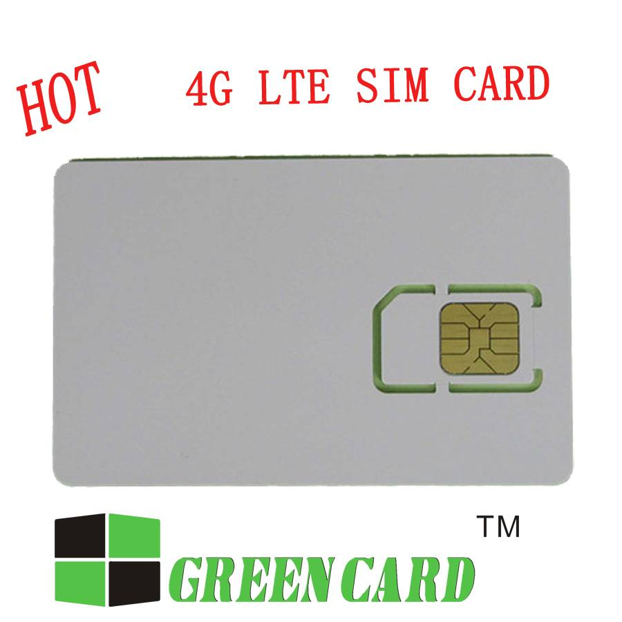 Normal size plastic mobile phone sim cards LTE usim card with micro nano size sim card
