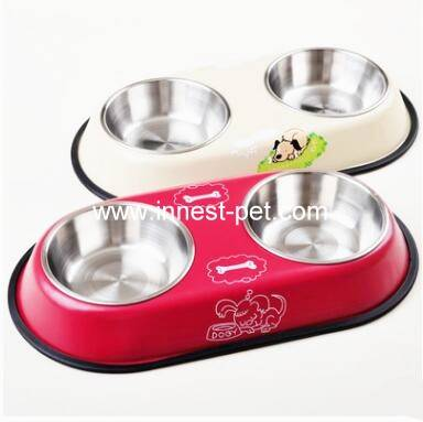 stainless steel dog water bowl, dog food bowl