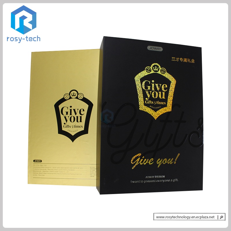Luxury Packing Box Paperboard Shining Golden Box For Promotion