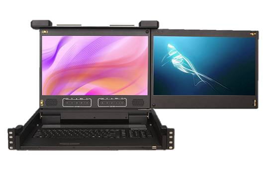 Dual Screen LCD Console Drawers