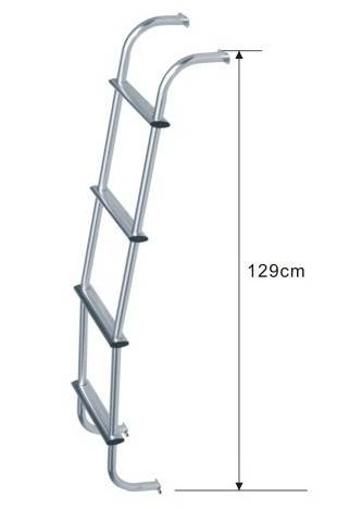 U1430-Aluminium Rear Ladder For Universal 129cm