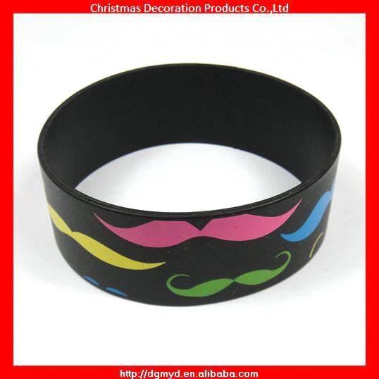 1 inch Mustache silicone bracelet