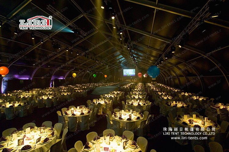 1000 People Big Curve Tent for Events, Events Curve Tent for Sale