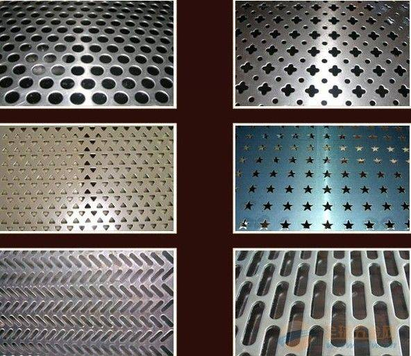 Mild steel or plain steel perforated sheet with round hole
