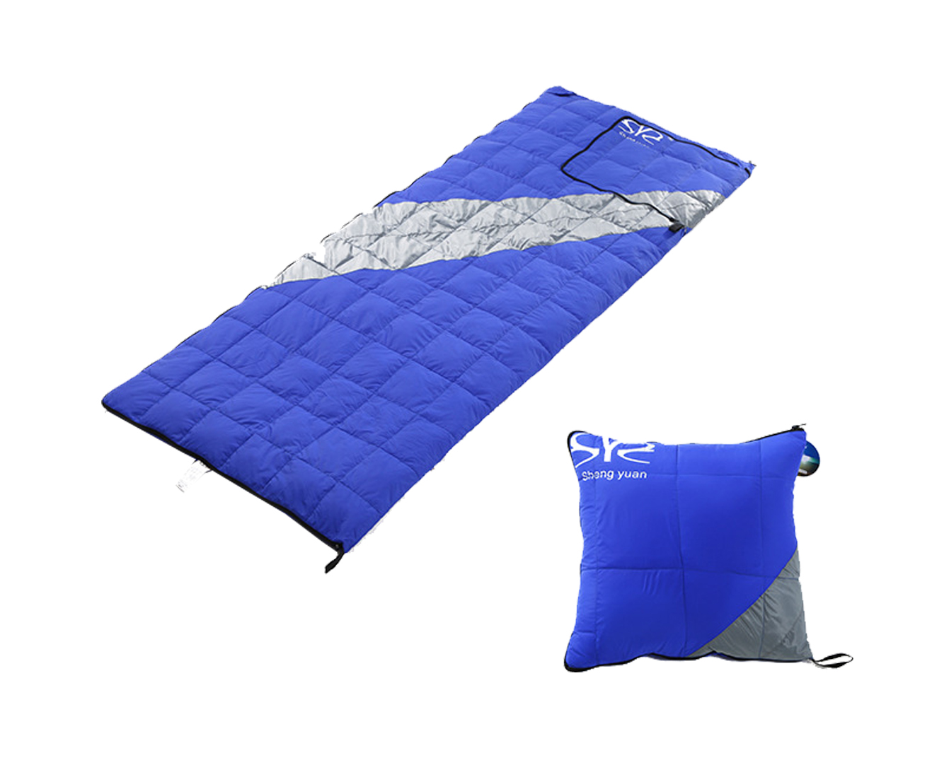 outdoor camping rectangular duck down sleeping bag