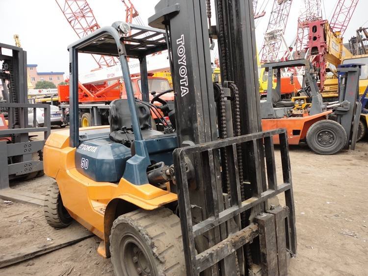 5 Tons Toyota 02-7FDA50 Used Forklift/Used Toyota Forklift