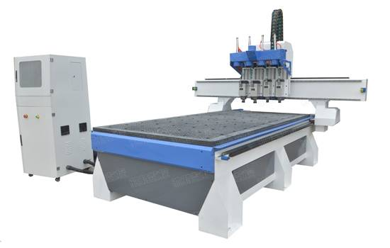 1325 four  process  woodworking cnc router with 4 spindles