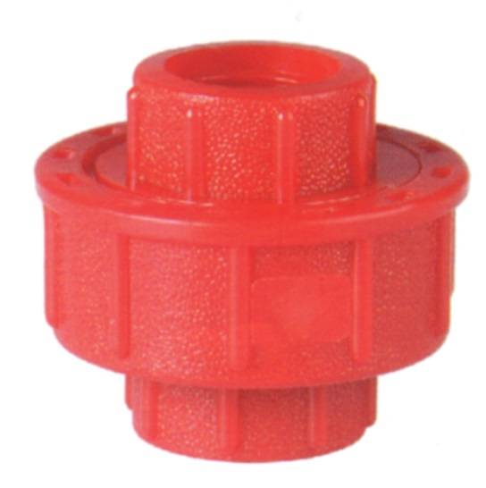 PPR red Union Plastic Tube Fittings