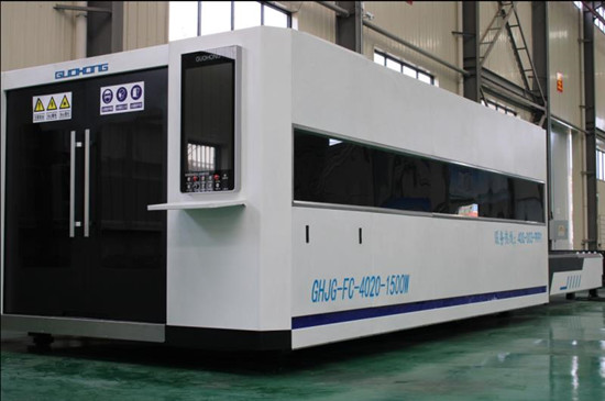 large enclosed optic fiber laser cutting machine