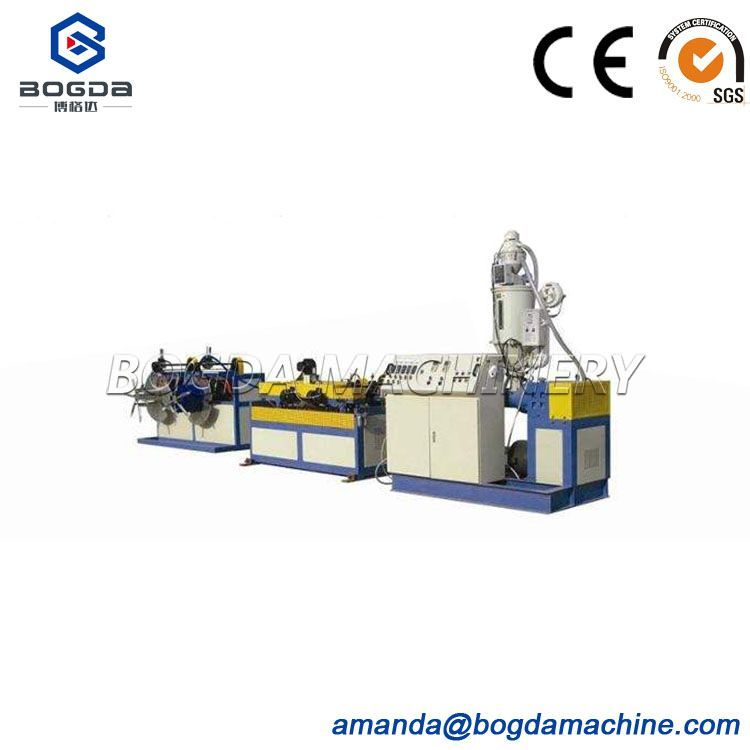 Newly HDPE single wall corrugated pipe making machine for electric cable wire