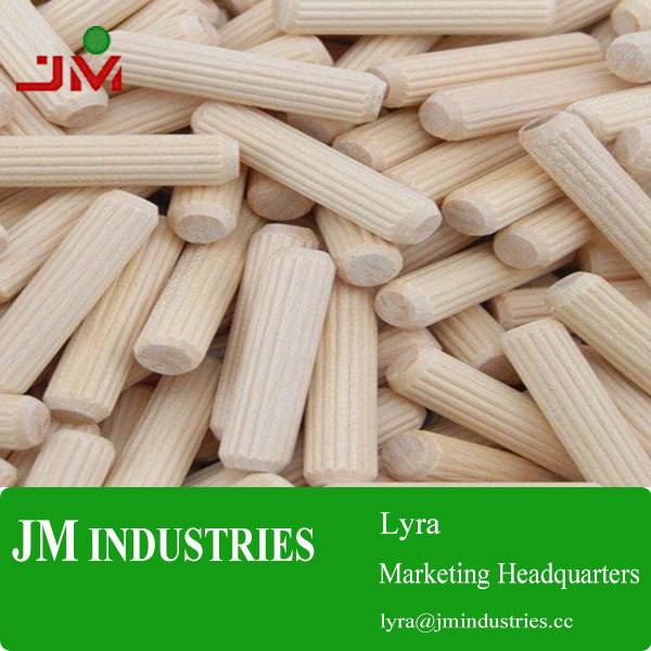 Wood dowel pins, wood dowels, wooden furniture accessory from chinese factory