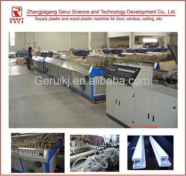 Plastic machine for PVC profile