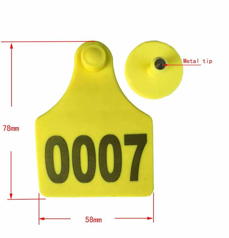 cattle ear tag 78*58mm