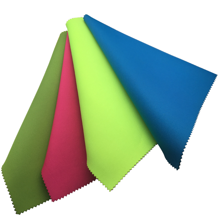 Hotsale colorful neoprene nylon fabrics 3mm soft and stretchy for diving suits