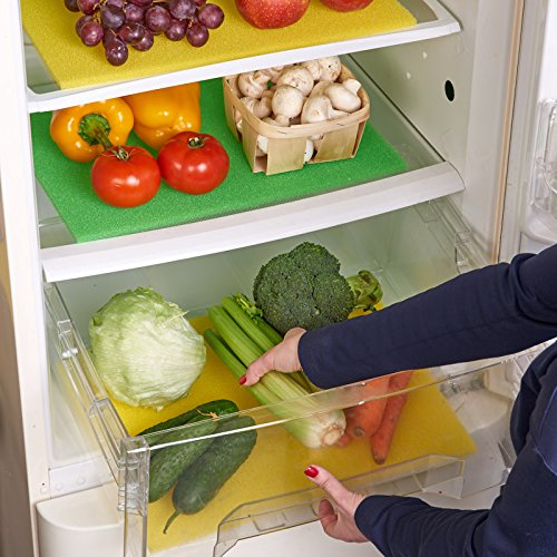 Non adhesive washable reusing fridge and drawer shelf liner
