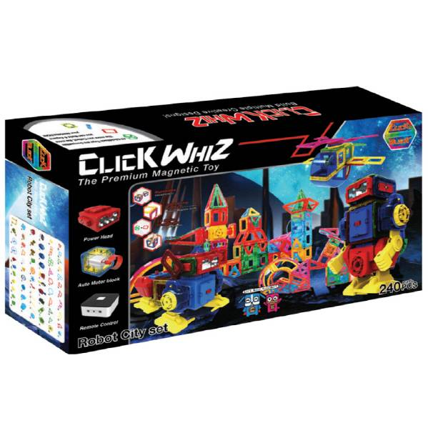 CLICKWHIZ MAGBOT-ROBOT CITY Educational magnetic block toy