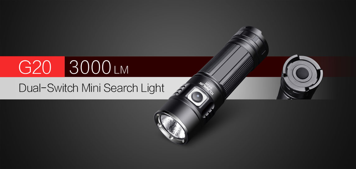 Dual-Switch Mini Search Light-Klarus G20