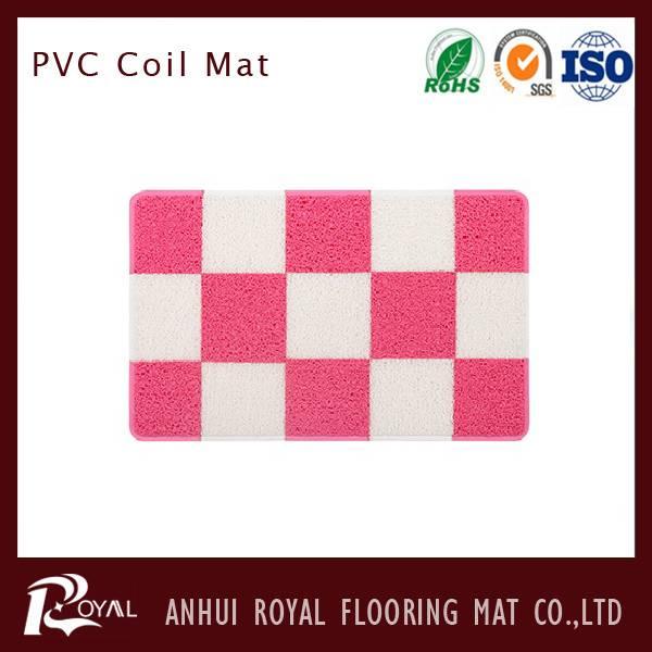 Non Slip PVC Floor Coil Bath Mat