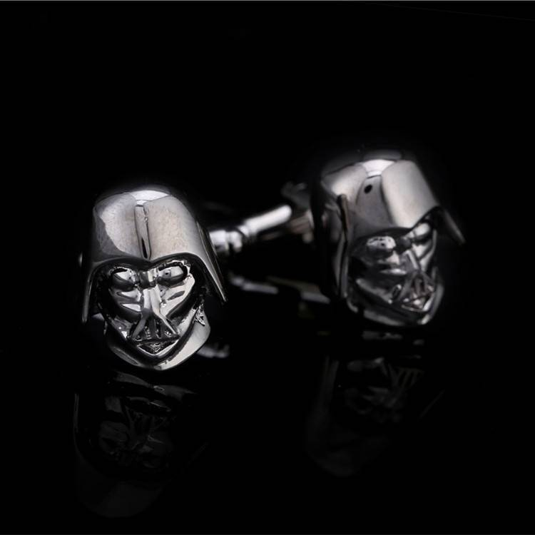 Star Wars Darth Vader cuff links Cufflink Cuff Link 1 Pair Free Shipping Promotion good luck black g