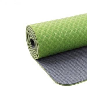 Eco-friendly Anti Slip Two Sides Texures TPE Yoga Mat