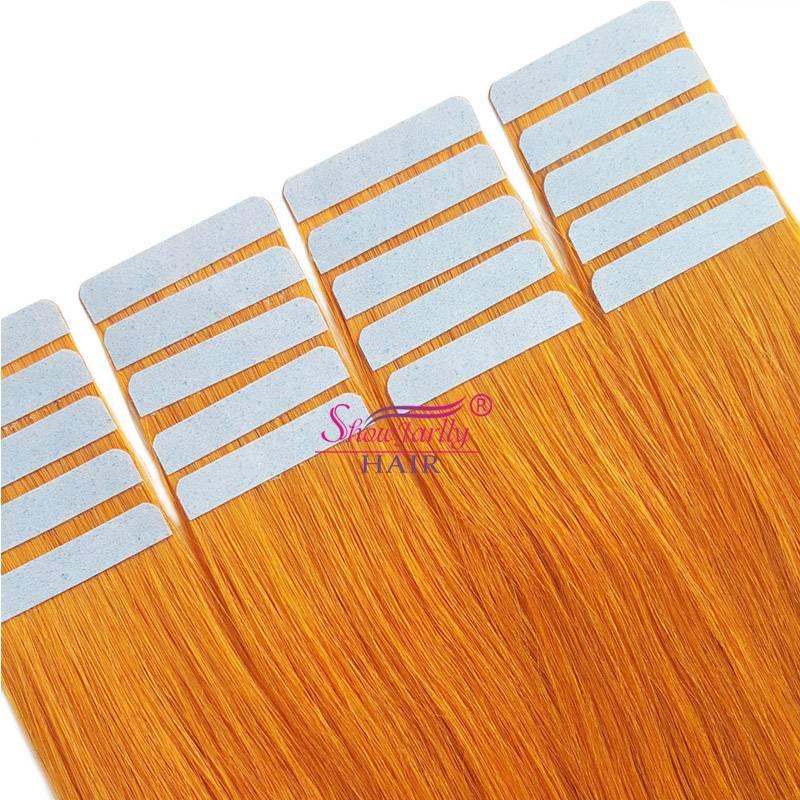 Tape in hair extensions orange