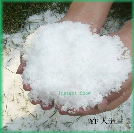 Super absorbent Polymer >> Artificial snow