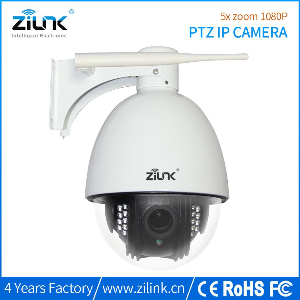 ZILINK Wifi Wireless/Wired HD 1080P (2 Megapixel) 10XOptical Zoom Outdoor Pan/Tilt IP Network Camera
